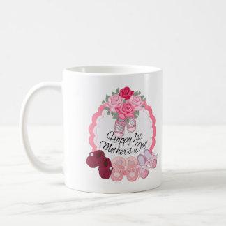 第1母の日、白11のozのクラシックで白いマグ コーヒーマグカップ