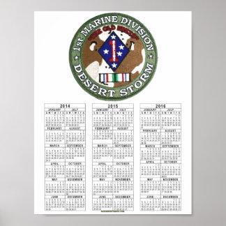 第1海兵師団の湾岸戦争 ポスター