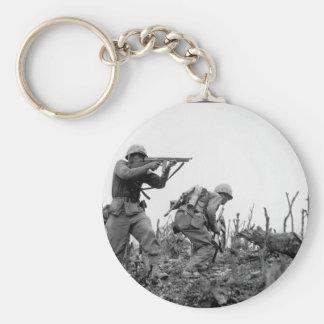 第1海兵師団の_Warイメージの海兵隊員 キーホルダー