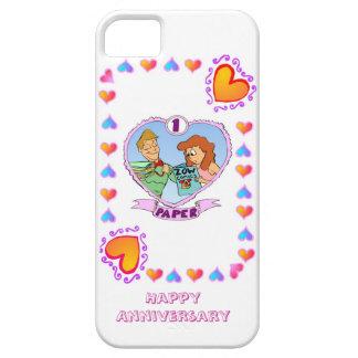第1結婚記念日、紙 iPhone SE/5/5s ケース