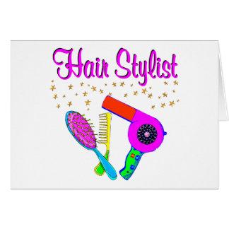 第1美容師および美容師 グリーティングカード