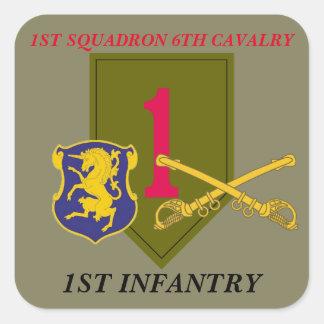 第1艦隊の第6騎兵隊の第1歩兵のステッカー スクエアシール