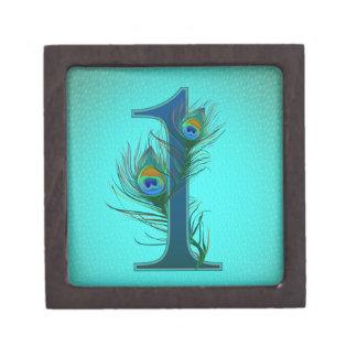 第1装飾的な番号を付けられたデザイン-記念日 ギフトボックス