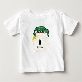 第1誕生日のドラゴン ベビーTシャツ