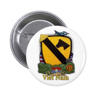 第1騎兵隊部ベトナムは戦争ボタンを診察します 5.7CM 丸型バッジ