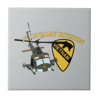 第1騎兵隊部-ベトナム- Huey 正方形タイル小