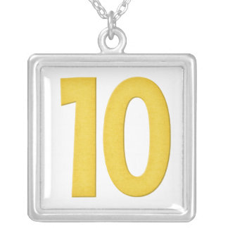 第10ネックレスのデザイン2 シルバープレートネックレス