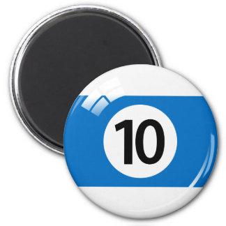 第10ビリヤードボールの冷蔵庫用マグネット マグネット
