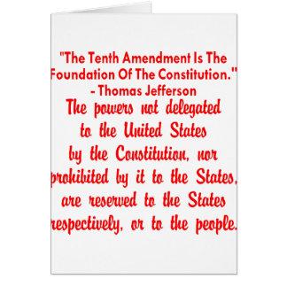 第10修正のトーマス・ジェファーソン カード