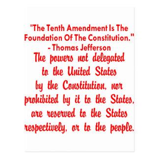 第10修正のトーマス・ジェファーソン ポストカード