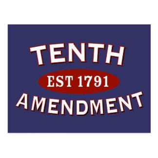 第10修正米国東部標準時刻1791年 ポストカード