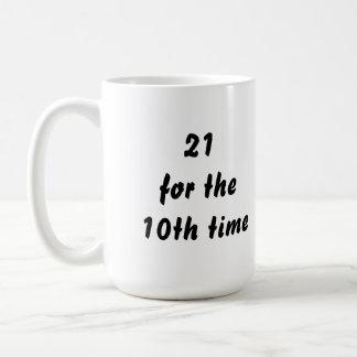第10時間の間21。 第30誕生日。 白黒 コーヒーマグカップ
