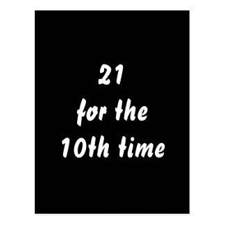 第10時間の間21。 第30誕生日。 白黒 ポストカード