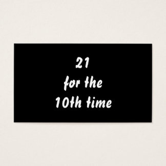 第10時間の間21。 第30誕生日。 白黒 名刺