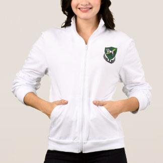第10特殊部隊の女性フリースのフード付きスウェットシャツ