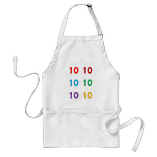 第10第10 Xthの誕生日記念日年のギフト スタンダードエプロン