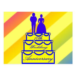 第10結婚記念日のギフト ポストカード