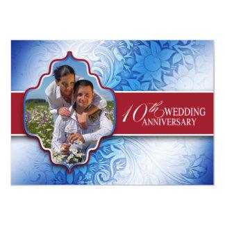 第10結婚記念日の写真 12.7 X 17.8 インビテーションカード