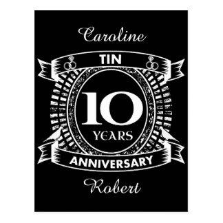 第10結婚記念日の錫 ポストカード