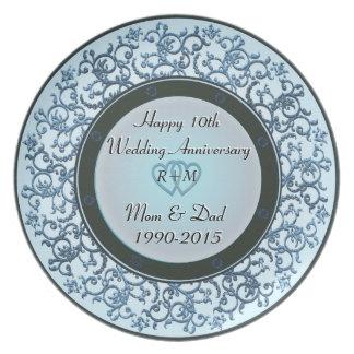 第10結婚記念日 パーティープレート