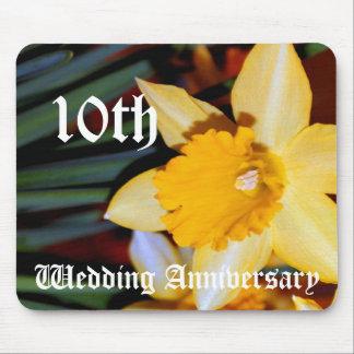 第10結婚記念日-ラッパスイセン マウスパッド
