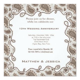第10結婚記念日 13.3 スクエアインビテーションカード