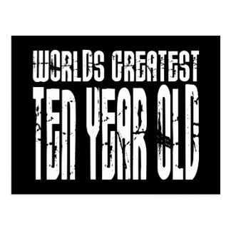 第10誕生会の世界のすばらしい10歳児 ポストカード