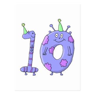 第10誕生会の漫画の創造物 ポストカード