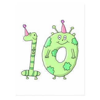第10誕生会の漫画-緑 ポストカード