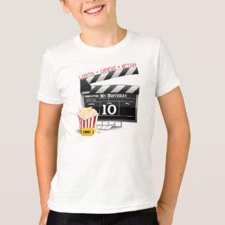 第10誕生日のハリウッド映画パーティー Tシャツ