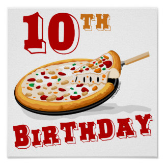 第10誕生日ピザパーティー ポスター