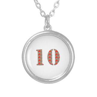 第10 10の誕生日記念日の記憶 シルバープレートネックレス