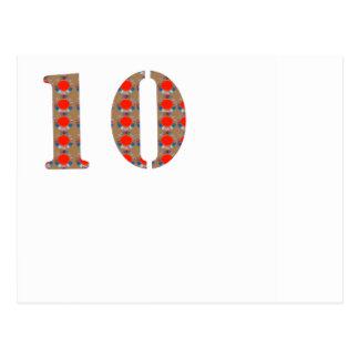 第10 10の誕生日記念日の記憶 ポストカード
