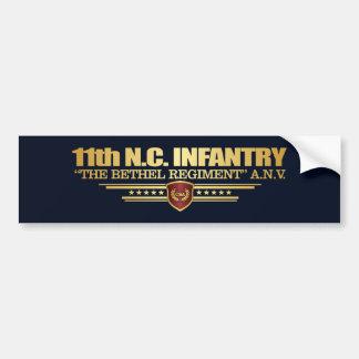 第11ノースカロライナの歩兵 バンパーステッカー