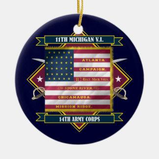 第11ミシガン州の有志の歩兵 セラミックオーナメント