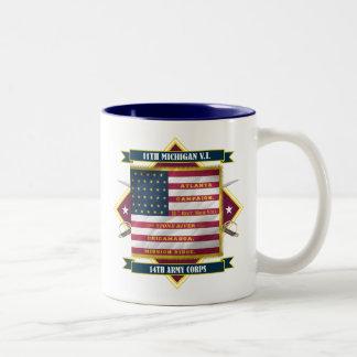 第11ミシガン州の有志の歩兵 ツートーンマグカップ