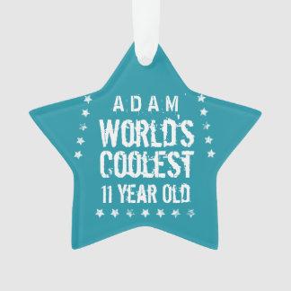 第11誕生日の世界で最もクールな11歳のティール(緑がかった色) Z11 オーナメント