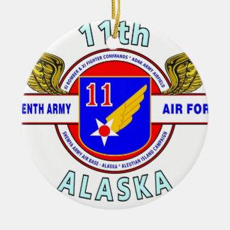 """第11軍隊の空軍""""軍隊飛行隊""""のWW II 陶器製丸型オーナメント"""