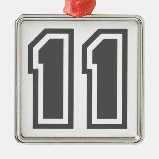 第11 シルバーカラー正方形オーナメント