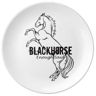 第11 Blackhorseの輪郭のプレート 磁器プレート