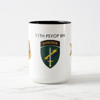 第11 PSYOPの大隊のマグ ツートーンマグカップ