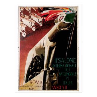 第11 Salone Internazional Dellの自動車1929年 ポストカード