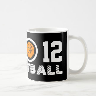 第12バスケットボールのコーヒー・マグ  Personalizable コーヒーマグカップ