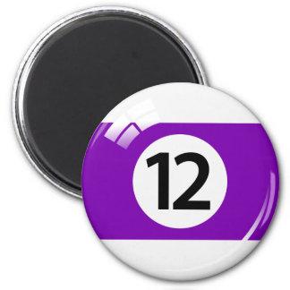 第12ビリヤードボールの冷蔵庫用マグネット マグネット