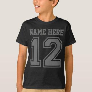 第12誕生日(カスタマイズ可能な子供の名前) Tシャツ