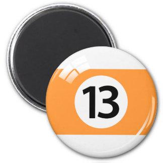 第13ビリヤードボールの冷蔵庫用マグネット マグネット
