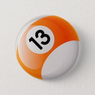 第13ビリヤードボール 5.7CM 丸型バッジ