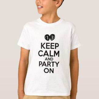 第13歳の誕生日のデザイン Tシャツ