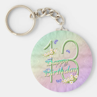 第13誕生日の蝶庭Keychain キーホルダー