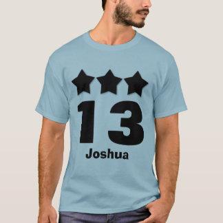 第13誕生日の10代のな3つの星大きい数カスタムV02 Tシャツ